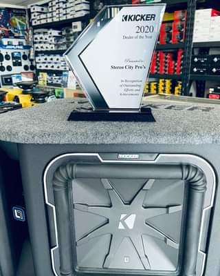 Another Dealer Of The Year Award from Kicker Audio 💪🏽 4X Kicker Dealer Of The Ye